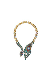 Betsey Johnson - Wrapped Up Gold Peacock Frontal Necklace