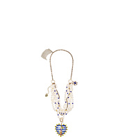 Betsey Johnson - Shipshape Mixed Media Frontal Necklace