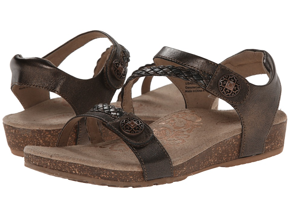 Aetrex Jillian Quarter Strap (Bronze) Sandals