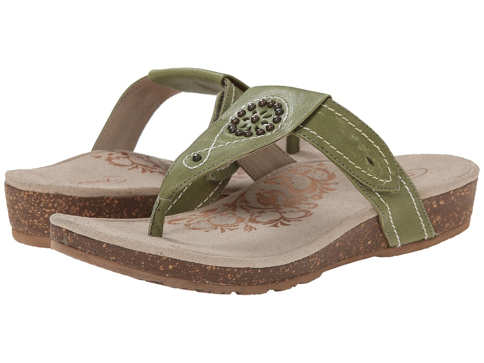 Aetrex Emily Sandalistas Lynco Footbed Sage Womens Sandals
