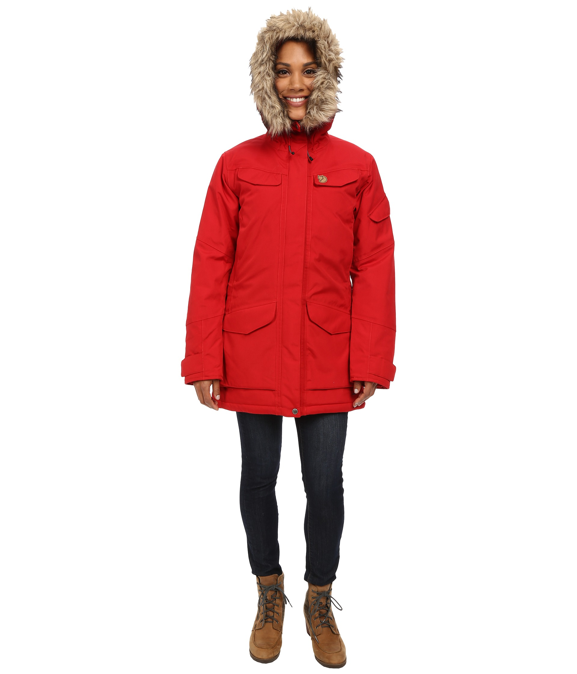 fj llr ven nuuk womens parka ox red pictures to pin on. Black Bedroom Furniture Sets. Home Design Ideas