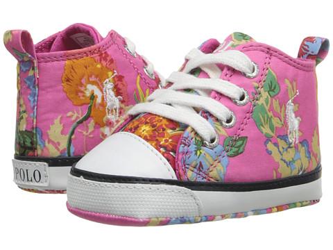 Polo Ralph Lauren Kids Harbour Hi (Infant/Toddler) - Pink Multi Plaid (NY-254)