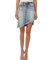Blank NYC - Distressed Denim Skirt in Total Betty