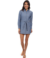 Lacoste - Long Sleeve Chambray Shirt Dress