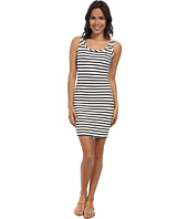Lacoste - L!ve Sleeveless Stripe Bodycon Pique Tank Dress