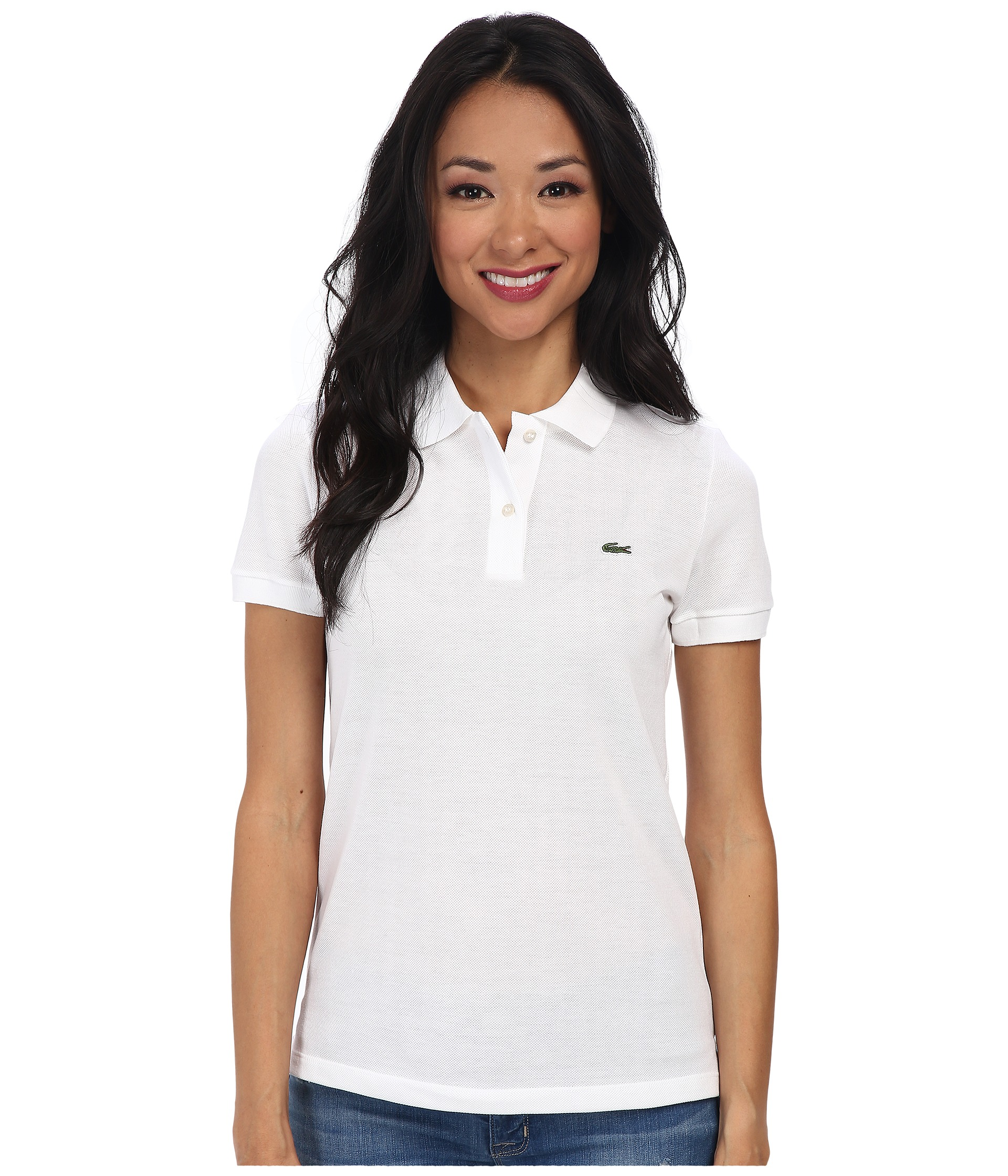 Lacoste short sleeve classic fit pique polo shirt at for Short sleeve lacoste shirt
