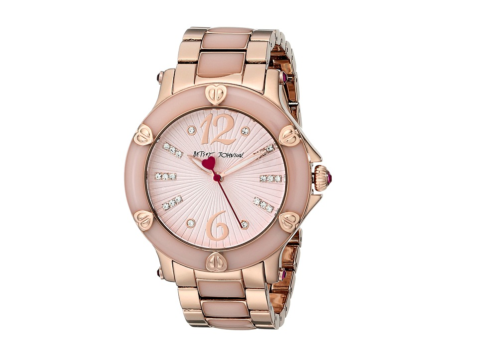 Betsey Johnson BJ00459-04 (Rose Gold/Blush/Blush) Watches