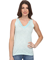 Lacoste - Sleeveless Color Block Slubbed Jersey V-Neck Tank Top