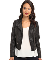 dollhouse - Asymmetric Zip Moto w/ Perforated Side Panels