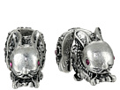 BJ's Menagerie Silver Bunny Front Back Stud Earrings