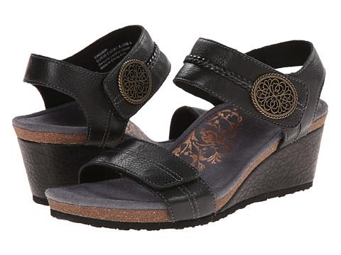 Aetrex Arielle Wedge Sandal - Black