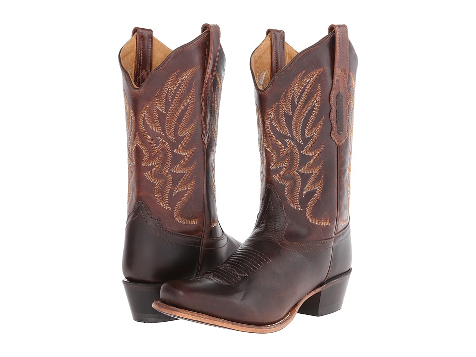 Old West Boots - 18002 (Dark Brown/Brown) Cowboy Boots