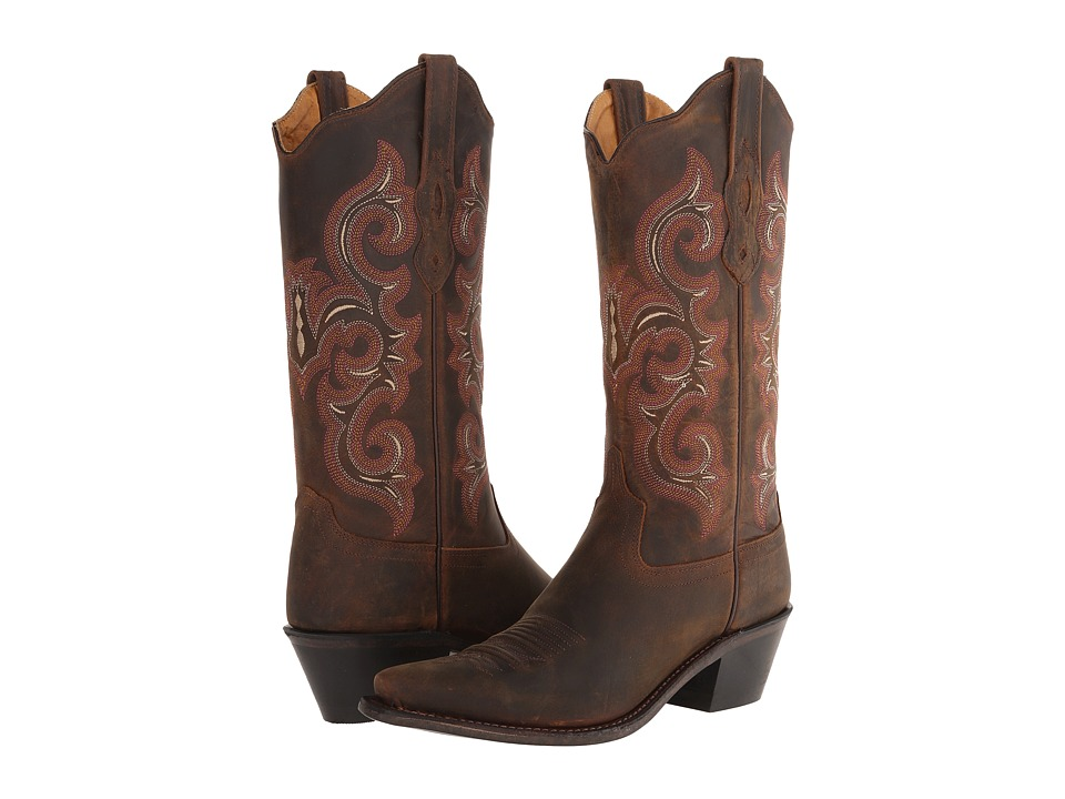 Old West Boots LF1580 Brown Oily Cowboy Boots