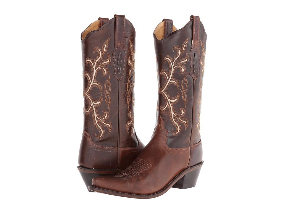 Old West Boots LF1571 Brown/Dark Brown Cowboy Boots
