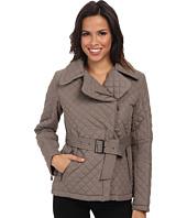 DKNY - Short Belted Quilt Coat
