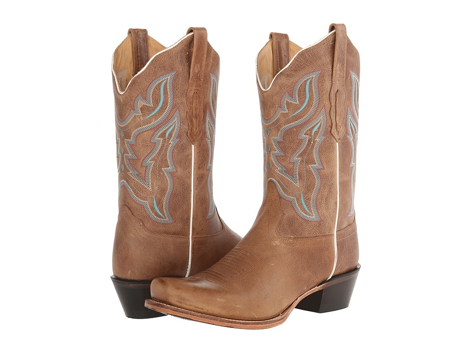 Old West Boots 18006 Light Brown Cowboy Boots