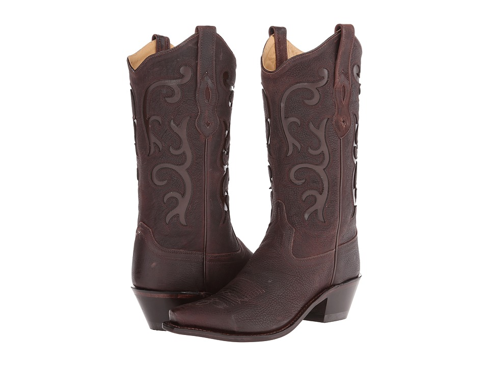 Old West Boots - LF1578 (Brown Tumbled) Cowboy Boots