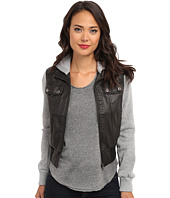 dollhouse - Zip Front Bomber w/ Knit Trim & Button Off Hood