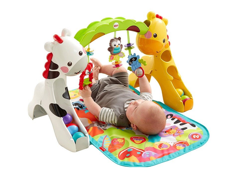 Fisher Price Newborn to Toddler Play Gym 3 in 1 Rainforest Strollers Travel