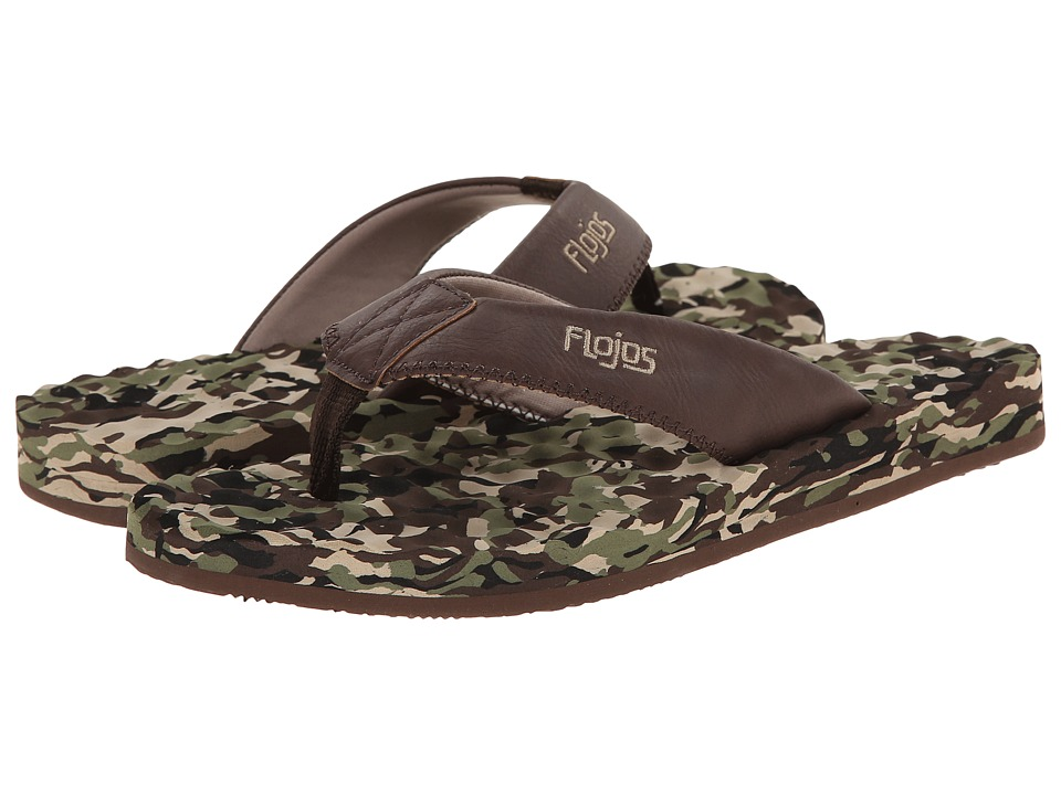 Flojos - Xander II (Camo Brown) Mens Sandals