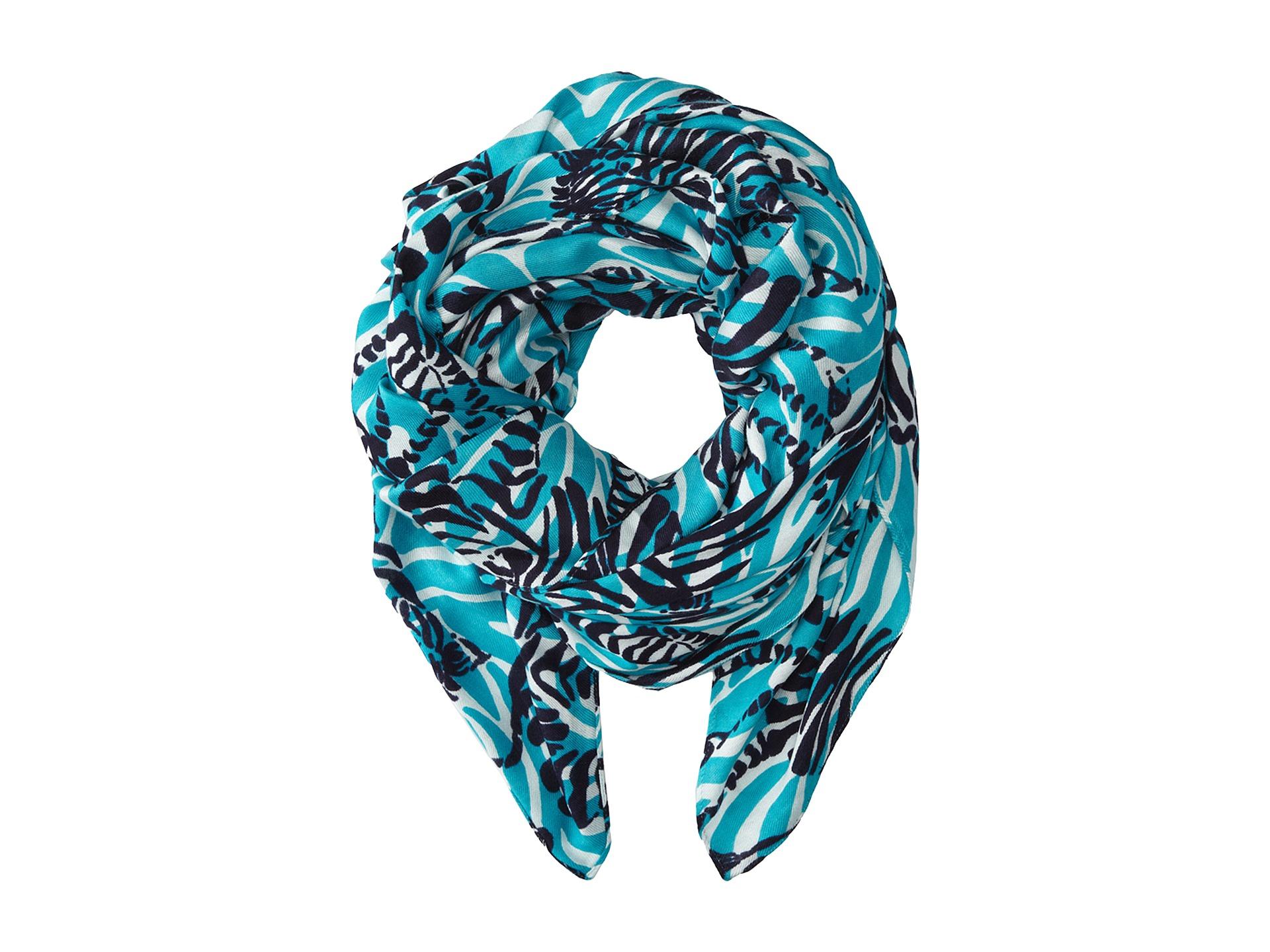 lilly pulitzer lillian scarf bright navy im zappos