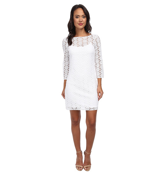 Lilly Pulitzer - Topanga Dress (Resort White Breakers Lace) Women's Dress