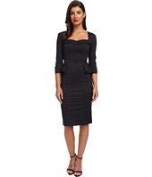 Stop Staring! - 3/4 Sleeve with Peblum Dress
