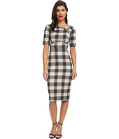 Stop Staring! - Plaid Boatneck Dress