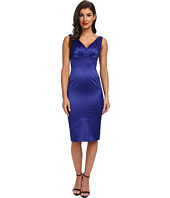 Stop Staring! - V-Neck Satin Dress