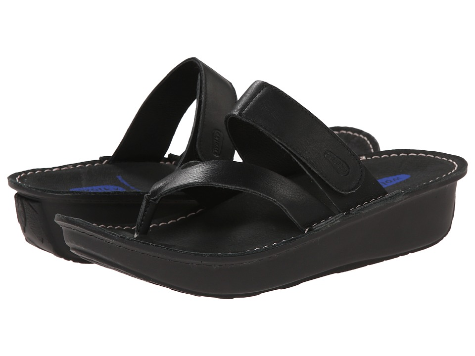 Wolky Tahiti Black Womens Sandals