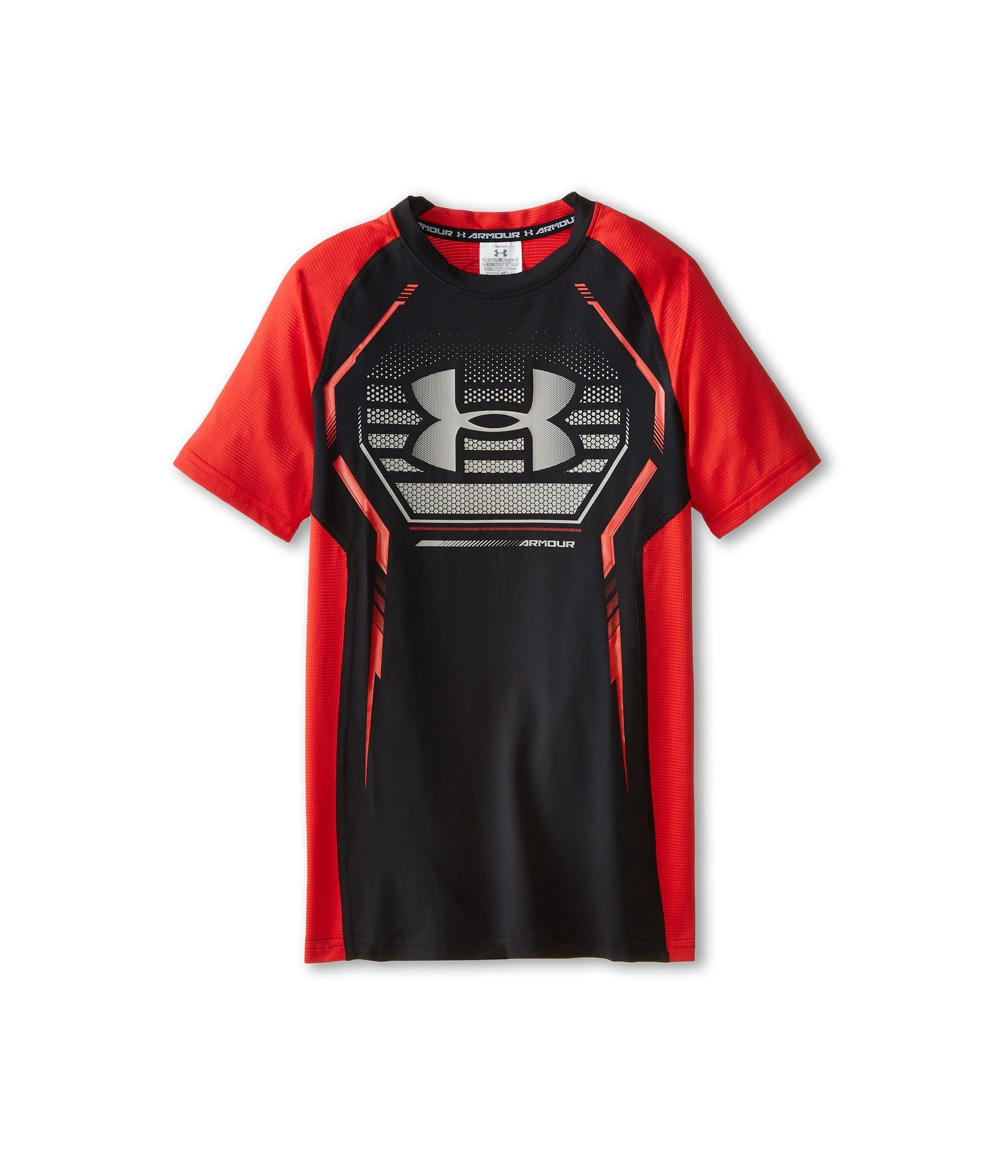 Under armour kids heatgear armour up s s fitted shirt big kids for Under armour shirts for kids