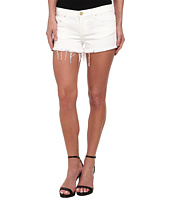 Blank NYC - White Denim Short - Raw Cut Off Finish in White Lines