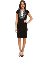 Laundry by Shelli Segal - Blocked Ponte Dress w/ Lace