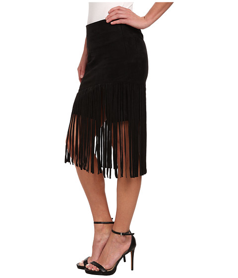 Sam Edelman Faux Suede Fringe Skirt - 6pm.com