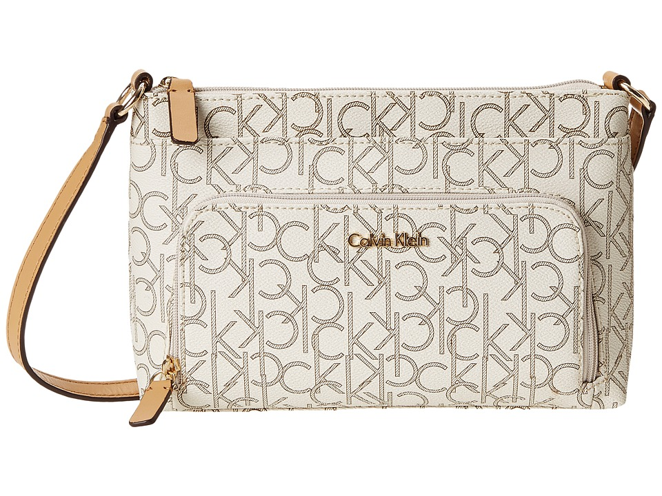 Calvin Klein - Key Items H3JEJ2CB (Almond/Khaki/Camel) Cross Body Handbags