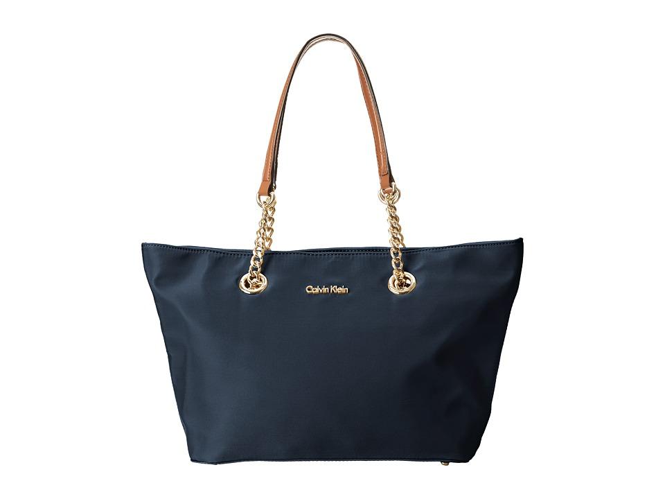 Calvin Klein Nylon Tote (Navy) Tote Handbags