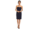 Donna Morgan Strapless Lace Short Dress (Indigo)