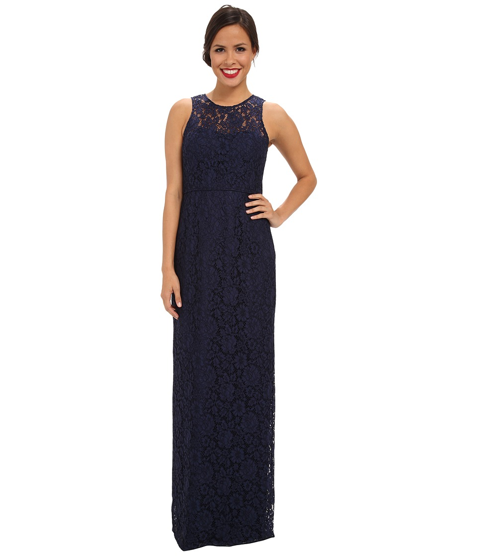 Donna Morgan - Illusion Neck Lace Long Gown