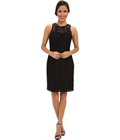 Donna Morgan - Illusion Neck Lace Short Dress