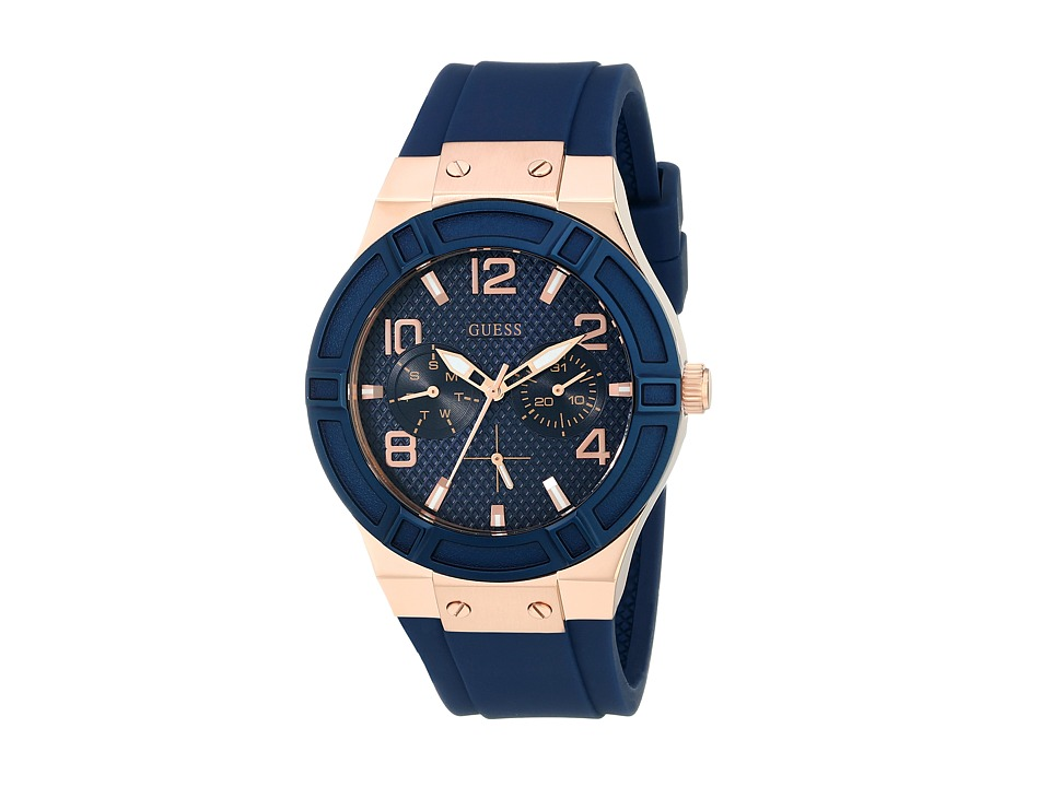 GUESS - U0571L1 (Blue/Rose Gold) Watches