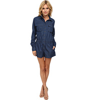 Blank NYC - Blue Long Sleeve Romper in Living Dead Girl