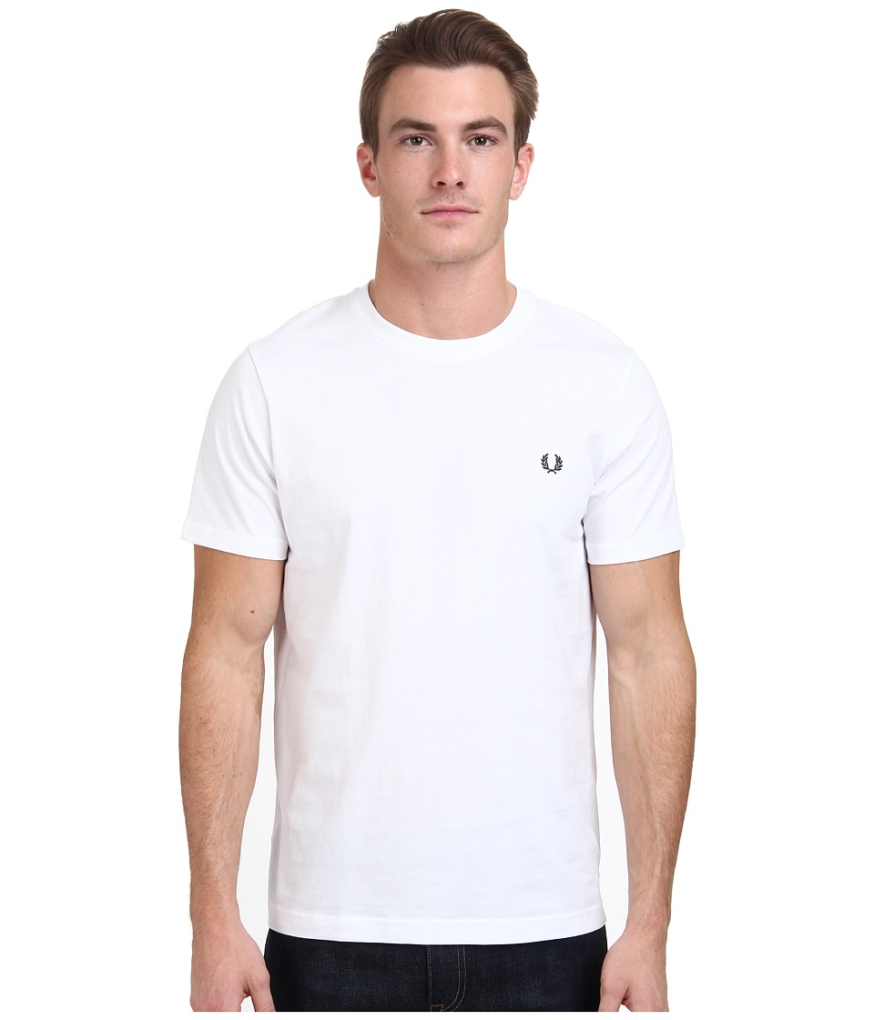 Fred Perry - Crew Neck T-Shirt (White) Men's T Shirt