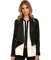 HELMUT LANG - Kiln Leather Drape Front Leather Jacket