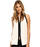 HELMUT LANG - Tissue Silk Zip Front Top