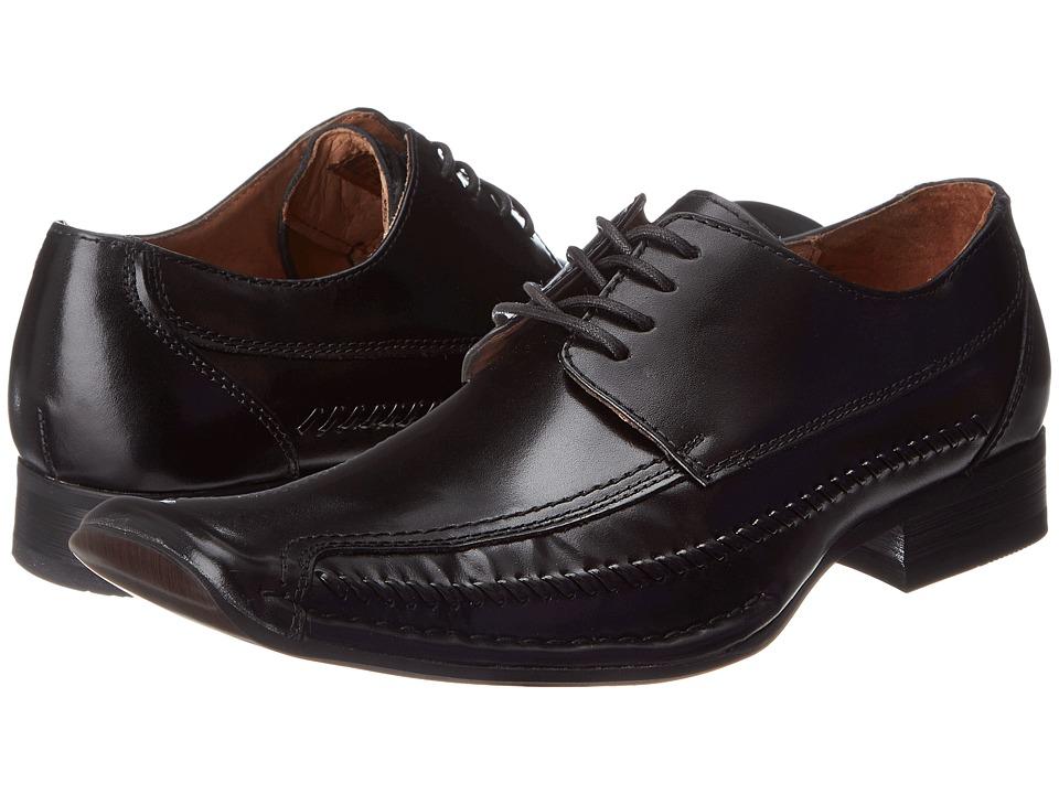 Giorgio Brutini 15900 Black Brush Off Goat Mens Lace Up Moc Toe Shoes