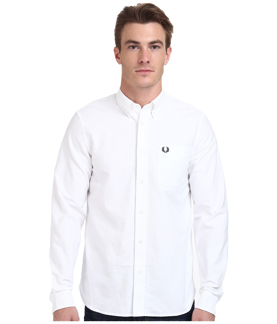 Fred Perry - Classic Oxford Shirt (White) Men's Clothing