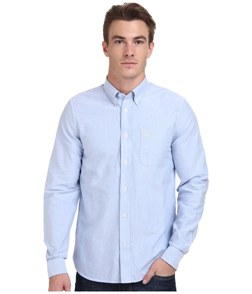 Fred Perry Classic Oxford Shirt (Light Smoke Oxford) Men'...
