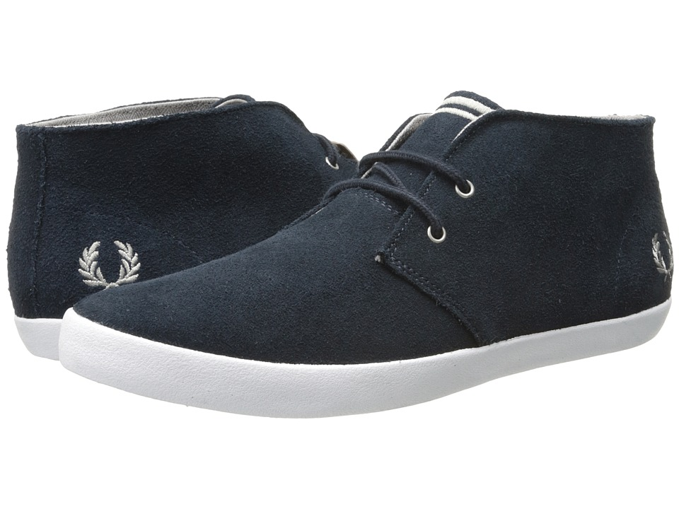 Fred Perry Byron Mid Suede Navy/Cloudburst Mens Lace up casual Shoes