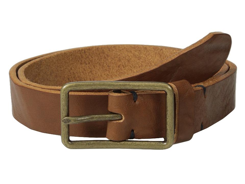 Scotch amp Soda Premium Italian Leather Belt Brown Mens Belts
