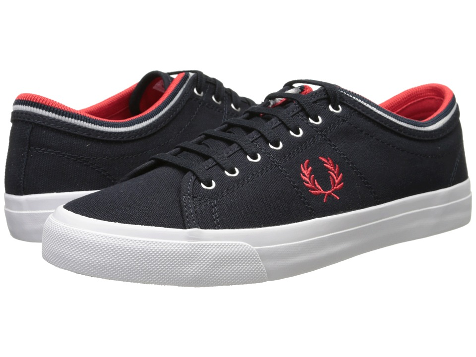 Fred Perry - Kendrick Tipped Cuff Canvas (Navy/Red) Men